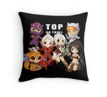 Top or Troll - chibi League of Legends Throw Pillow