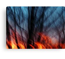 Out of the Blue Into the Fire #2 Canvas Print