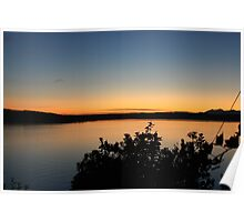 Sunset on Puget Sound Poster