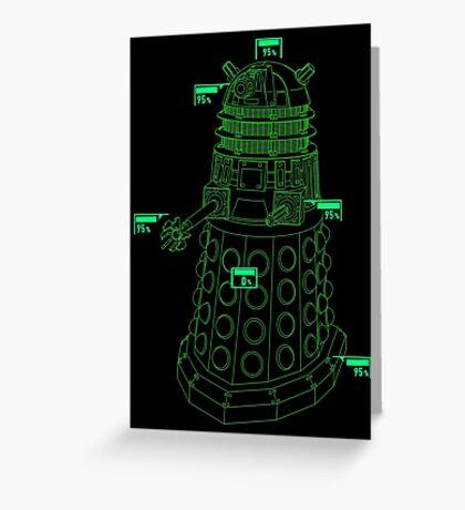 Exterminate the Robot - Dark Greeting Card