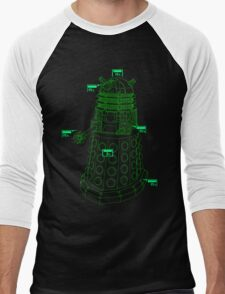 Exterminate the Robot - Dark Men's Baseball ¾ T-Shirt