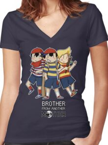 Brother From Another MOTHER Women's Fitted V-Neck T-Shirt