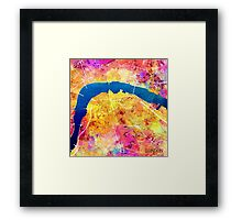 London city maps colored Framed Print