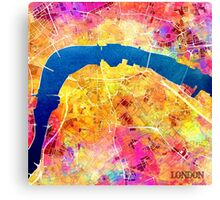 London city maps colored Canvas Print