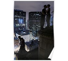 Crumbling rooftop Poster