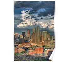Denver Skyline at Sunset Poster