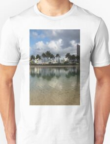 Tropical Vacation - Swaying palms and Crystal Clear Water T-Shirt