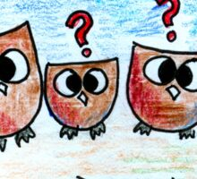 Confused Owls ft. Porcupine  Sticker