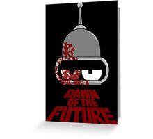 Bender Dawn of the Future - Dark Greeting Card
