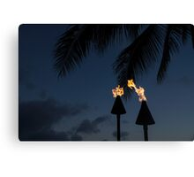 Of Tiki Torches, Palm Trees and Beach Parties Canvas Print