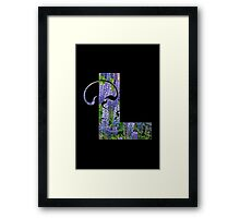 L is for lupin Framed Print