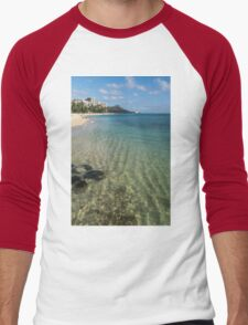 Waikiki Beach Sea and Sunshine Men's Baseball ¾ T-Shirt