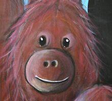 Orangutan detail - Day 6 - 'Creation' Mural by Selinah Bull