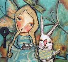 Alice and the Rabbit by pbsartstudio