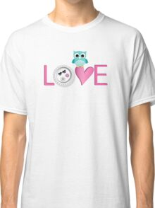 Love Owl with charm Classic T-Shirt