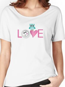 Love Owl with charm Women's Relaxed Fit T-Shirt