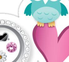 Love Owl with charm Sticker