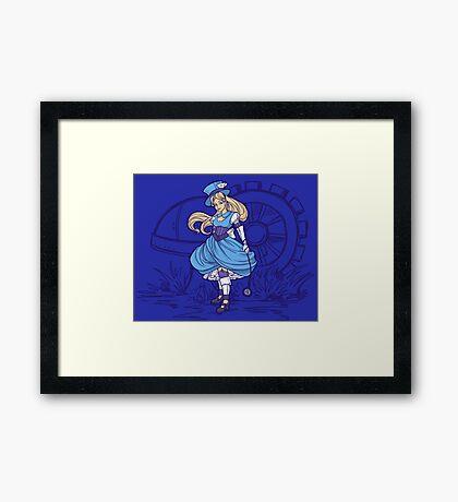 Steampunk Alice - Revised Framed Print