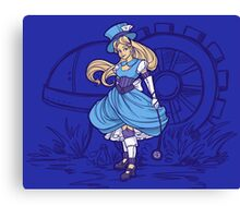 Steampunk Alice - Revised Canvas Print