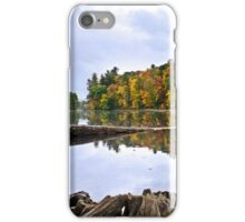 Peaceful Autumn Lake Landscape iPhone Case/Skin