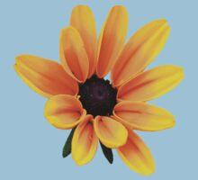 Yellow Daisy Flower One Piece - Short Sleeve