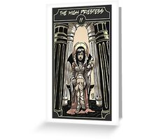 The High Priestess - Sinking Wasteland Tarot Greeting Card