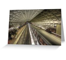 Smithsonian Metro Station Greeting Card
