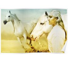 Two White Horses Poster