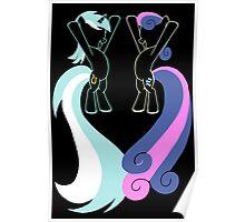 Minimalist Lyra and BonBon Poster