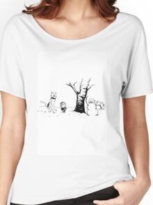 Jon and Ghost (Black and White) Women's Relaxed Fit T-Shirt