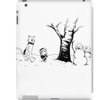 Jon and Ghost (Black and White) iPad Case/Skin