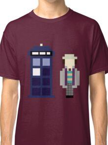 Pixel 7th Doctor and TARDIS Classic T-Shirt