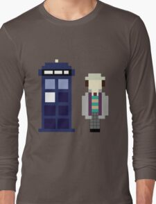 Pixel 7th Doctor and TARDIS Long Sleeve T-Shirt