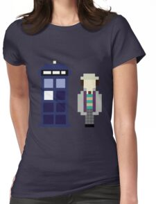 Pixel 7th Doctor and TARDIS Womens Fitted T-Shirt