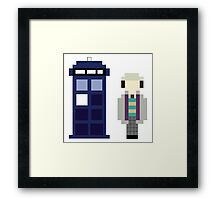 Pixel 7th Doctor and TARDIS Framed Print