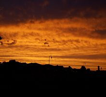 Red sunset, Cranbourne, Victoria by Reneefroggy