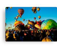 Balloon Gathering Canvas Print