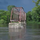 Sutliff River Bridge Summer storm blowing in by Patricia Cleveland