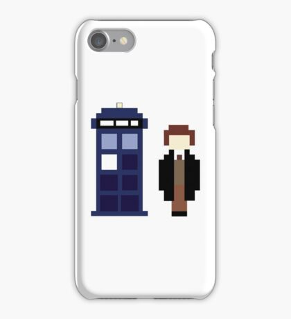 Pixel 8th Doctor and TARDIS iPhone Case/Skin