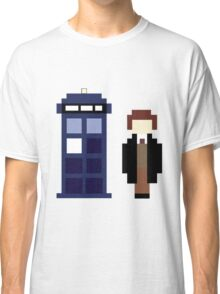 Pixel 8th Doctor and TARDIS Classic T-Shirt