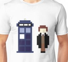 Pixel 8th Doctor and TARDIS Unisex T-Shirt