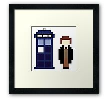 Pixel 8th Doctor and TARDIS Framed Print