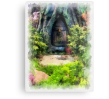 Gnome Away From Home Metal Print