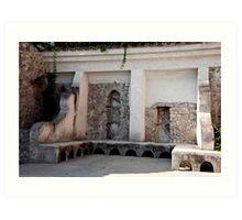 Ravello Garden Benches Art Print