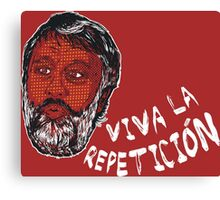 (Polka Dot) Zizek : Viva la Repeticion ! Canvas Print