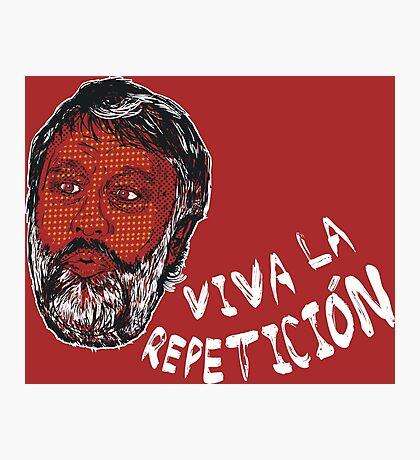 (Polka Dot) Zizek : Viva la Repeticion ! Photographic Print