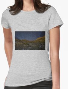 Star Trails Womens Fitted T-Shirt