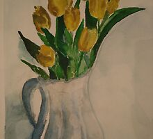 Tulips in a Vase by moumita