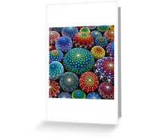 Jewel Drop Mandala Stone Collection #1 Greeting Card