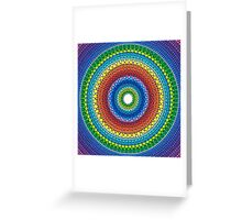 Happy Rainbow Mandala Greeting Card